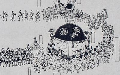 江戸時代の神輿渡御の様子